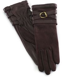 Ralph Lauren Equestrian Double-wrap Gloves - Lyst