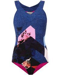 Preen Lang Flower Tile-Print Swimsuit - Lyst