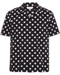 Saint Laurent | Polka-dot Print Cotton-blend Shirt | Lyst