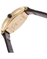Cartier Pre-Ownedwomen'S Dark Brown Genuine Crocodile Ivory Dial - Lyst