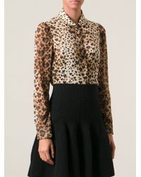 RED Valentino Leopard Print Blouse - Lyst