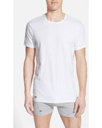 Lacoste 'Colours' Stretch Cotton T-Shirt - Lyst