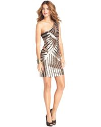 Js Boutique Dress Sleeveless One-shoulder Sequin Cocktail Dress - Lyst