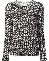MICHAEL Michael Kors Geometric Print Sweater - Lyst