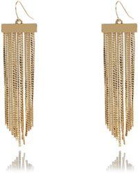 River Island Gold Tone Tassel Dangle Earrings - Lyst