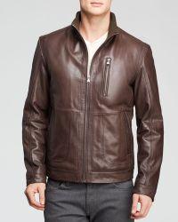 Hugo Boss Boss Aicon Leather Jacket - Lyst