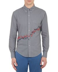 Band Of Outsiders Stockembroidered Oxford Shirt - Lyst