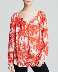 Karen Kane Palm Tree Print Blouse - Lyst