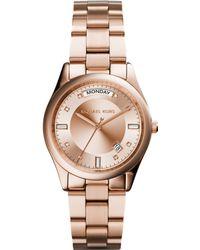 Michael Kors Women'S Colette Rose Gold-Tone Stainless Steel Bracelet Watch 34Mm Mk6071 - Lyst