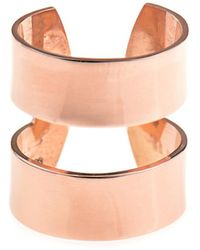 Aamaya By Priyanka - Double-Band Rose Gold-Plated Ring - Lyst