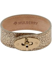 Mulberry Gold Bayswater Bracelet - Lyst