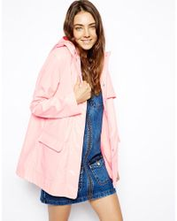 Asos High Shine Rain Mac - Lyst