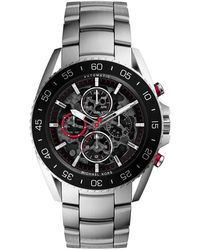 Michael Kors Oversize Silver Color Stainless Steel Jetmaster Chronograph Watch - Lyst