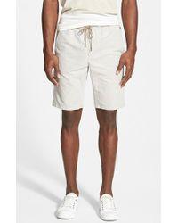 Vince Linen & Cotton Drawstring Shorts - Lyst