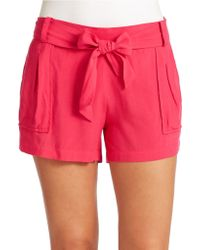 Jessica Simpson Petra Belted Shorts - Lyst