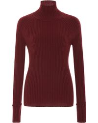 Zac Posen - Ribbed Turtleneck Jumper - Lyst