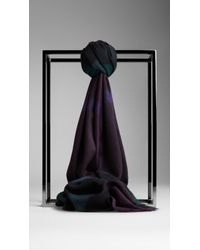 Burberry Check Cashmere Scarf - Lyst