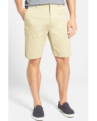 Volcom 'Faceted' Twill Shorts - Lyst