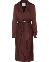 Jason Wu Belted Silk-Chiffon Wrap Dress - Lyst