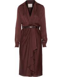 Jason Wu Belted Silk-Chiffon Wrap Dress - Lyst