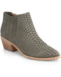 4662ea973140 Joie - Barlow Snake Embossed-leather Ankle Boots - Lyst