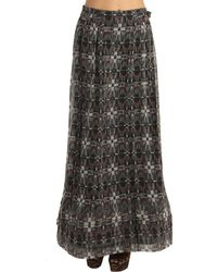 Charlotte Ronson Paneled Print Maxi Skirt - Lyst