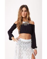 For Love And Lemons Chi Chi Crop Top - Lyst