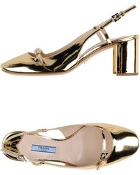 Prada Pump gold - Lyst