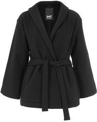 Denham - Black Tokyo Wrap Jacket - Lyst