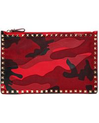 Valentino Camouflage Patchwork Pouch - Lyst