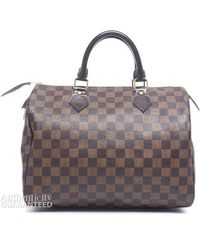 Louis Vuitton Preowned Damier Ebene Speedy 30 Bag - Lyst
