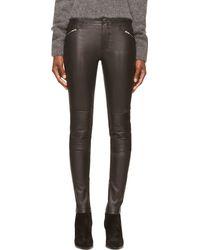 BLK DNM Black Leather Moto Skinny Pants - Lyst