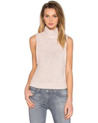 Kathryn Mccarron - Tilda Sleeveless Turtleneck Sweater - Lyst