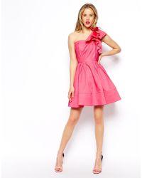 Asos Origami Shoulder Dress - Lyst