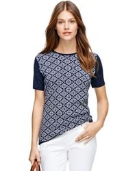 Brooks Brothers Supima Cotton Jacquard Shell - Lyst