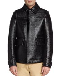 Burberry Prorsum Coated Knit Jacket black - Lyst