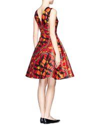Chictopia - Printed Silk Dress - Lyst