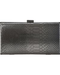 Dune Barley Hard-case Clutch Pewter-metallic - Lyst
