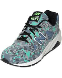 New Balance 580 Camo Printed Faux Leather Sneakers - Lyst
