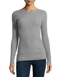Autumn Cashmere Cashmere Racing-Stripe Ribbed Sweater - Lyst