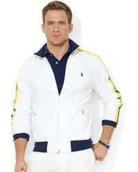 Ralph Lauren Polo Cotton Interlock Track Jacket - Lyst