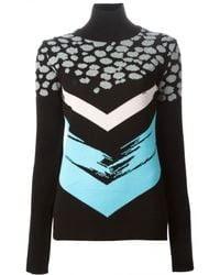 Être Cécile Cheetah Spot Polo Neck Sweater - Lyst