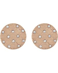 Michael Kors - Monogram Etched Stud Earrings - Lyst