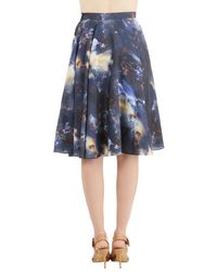 ModCloth Ikebana For All Skirt in Galaxy - Lyst