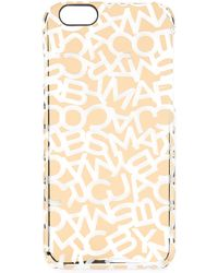 Marc By Marc Jacobs - Metallic Scrambled Logo Iphone 6 Case - Shiny Nickle - Lyst