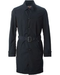 Woolrich Belted Trench Coat - Lyst