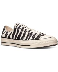 Converse Mens Chuck Taylor All Star 70 Ox Casual Sneakers From Finish Line - Lyst