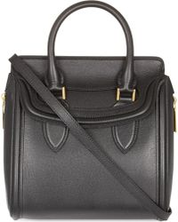 Alexander McQueen Heroine Small Textured Leather Tote - For Women - Lyst