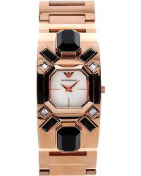 Emporio Armani Gold Wrist Watch - Lyst