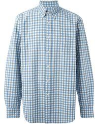 Canali Gingham Check Shirt - Lyst